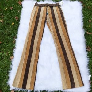 NWT Wilson Leather Stripe Buckle Pants Size 4
